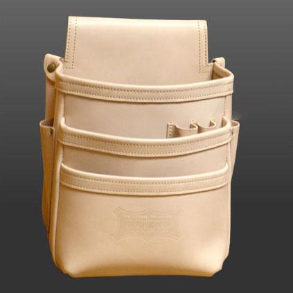 KNS-301DD 総ヌメ革使用3段腰袋 KNICKS(ニックス)