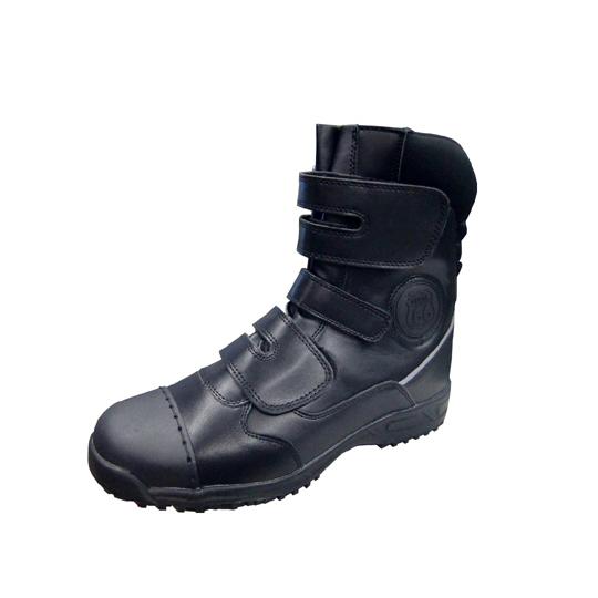 ルート66安全靴 3本ベルト 黒