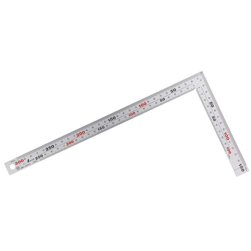 10421 曲尺 厚手広巾 シルバー 30cm表裏同目 8段目盛 シンワ測定