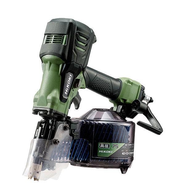 NV75HR2(SAG) 高圧ロール釘打機 ハイコーキ(日立工機) 限定色アブソリュートグリーン