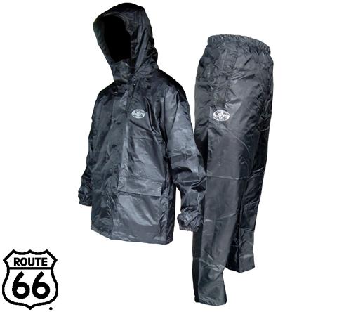 66-381 ルート66 レインスーツ(黒迷彩) フジテブクロ