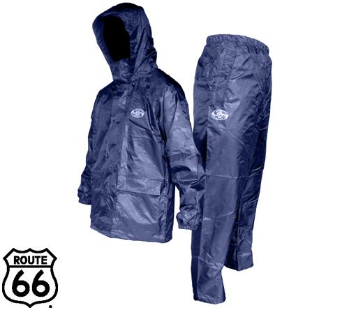 66-381 ルート66 レインスーツ(紺迷彩) フジテブクロ